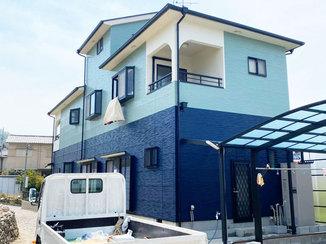 外壁・屋根リフォーム 色にとことんこだわり、お客様のイメージ通りに仕上げた外壁&屋根